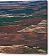 Landscape Of Rolling Farmland Steptoe Butte Washington Art Prints Canvas Print