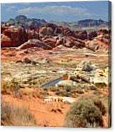 Landscape Of Valley Of Fire State Park Canvas Print