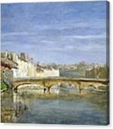 Landscape Oil On Canvas Canvas Print