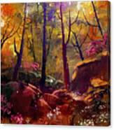 Landscape Painting Of Beautiful Autumn Canvas Print