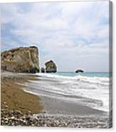 Seascape  Paphos Cyprus Canvas Print