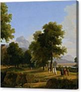 Landscape. Site Of Greece Canvas Print