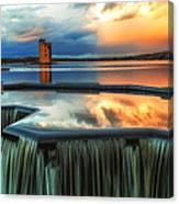Landscape Strathclyde Park Weir  Canvas Print