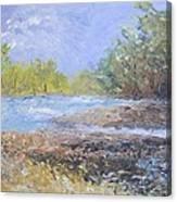 Landscape Whit River Canvas Print