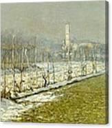 Landscape. Winter Sun Canvas Print