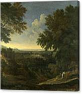 Landscape With Abraham And Isaac Canvas Print