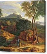 Landscape With Conopion Carrying Canvas Print