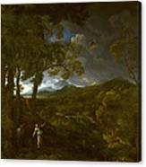 Landscape With Elijah And The Angel Canvas Print