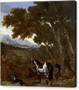 Landscape With Hermit Preaching To Animals Canvas Print