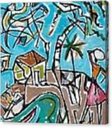 Landscape With Lavadeira Canvas Print