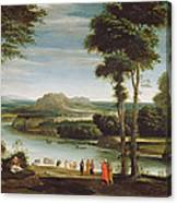 Landscape With St. John Baptising Canvas Print