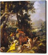 Landscape With The Ministry Of John The Baptist Canvas Print
