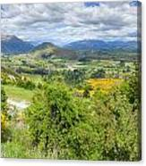 Landscape With Winding Road Canvas Print
