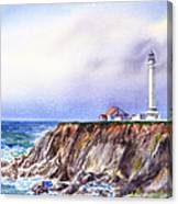 Lighthouse Point Arena California  Canvas Print