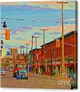 Landsdowne Condos 5th Avenue The Glebe Ottawa Street Scene Paintings Carole Spandau Canadian Art Canvas Print