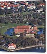 Landskrona Citadel Photographed From The Air Canvas Print