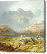 Langdale Pikes, From The English Lake Canvas Print