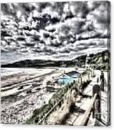 Langland Bay Painterly Canvas Print