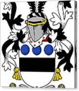 Langley Coat Of Arms Irish Canvas Print