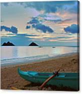 Lanikai Beach Sunrise 6 - Kailua Oahu Hawaii Canvas Print