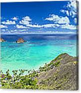 Lanikai Bellows And Waimanalo Beaches Panorama Canvas Print