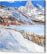Valbona Snow - Margjeka Hotel Canvas Print