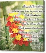 Lantana Greeting Card With Verse Canvas Print