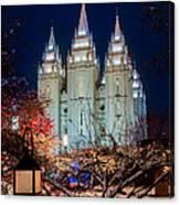 Lantern Bush Slc Temple Canvas Print
