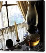 Lantern In The Window. Canvas Print
