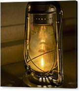 Lantern On Granite Canvas Print
