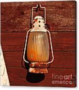 Lantern On Red Canvas Print