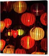 Lantern Shop At Night, Hoi An, Vietnam Canvas Print