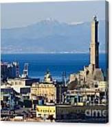 Lanterna - Lighthouse In Genova Canvas Print