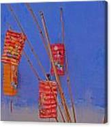 Lanterns A Penang. Canvas Print