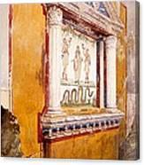 Lararium Of Family Altar, Seen In Situ Canvas Print