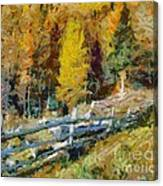 Larches In Autumn Canvas Print