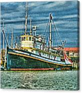 Large Fishing Boat Hdr Canvas Print