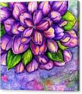 Large Flower Canvas Print