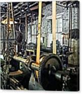 Large Lathe In Machine Shop Canvas Print