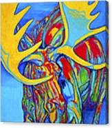 Large Moose Canvas Print