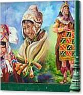 Large Mural In Cusco Peru Part 4 Canvas Print
