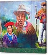 Large Mural In Cusco Peru Part 6 Canvas Print