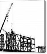 Large Scale Construction In Outline Canvas Print
