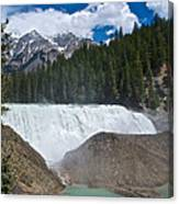 Larger View Of Wapta Falls In Yoho Np-bc Canvas Print