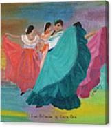 Las Bailarinas De Costa Rica Canvas Print