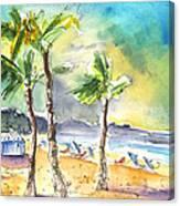 Las Canteras Beach In Las Palmas De Gran Canaria Canvas Print