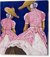 Las Charras Rosadas Canvas Print