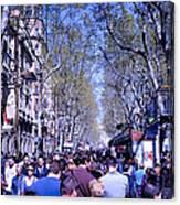 Las Ramblas - Barcelona Spain Canvas Print