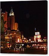 Las Vegas At Midnight Canvas Print