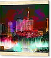 Las Vegas Bellagio Painting Canvas Print